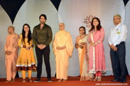 Radhanath Swami with Saurabh Jain and Juhi Chawla's Family