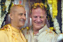 Radhanath Swami with his friend Gary