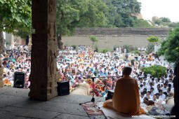 Talk by Radhanath Swami during Hampi Yatra