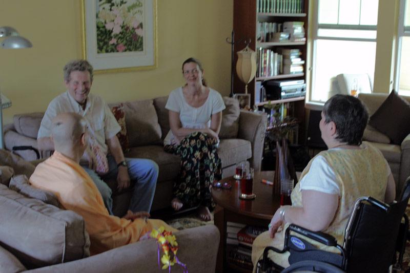 HH Radhanath Swami meeting with HG Shyamsundar Prabhu