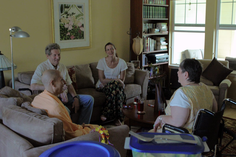 Swami Radhanath meeting with HG Yamuna Mataji