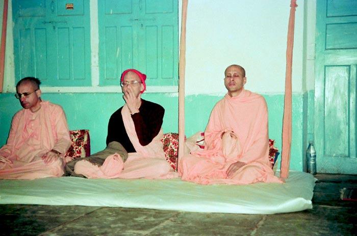 Radhanath Swami with Jayadvaita Swami Maharaj