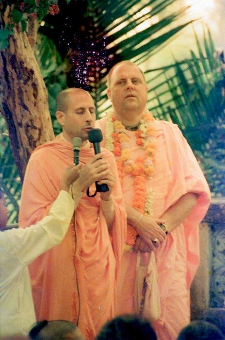 Radhanath Swami and Jayapataka Swami