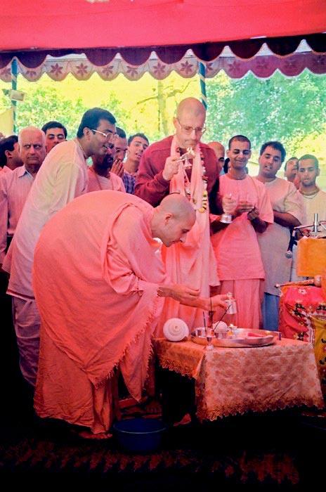 Radhanath Swami with Giriraj Swami