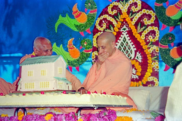 Radhanath Swami with Loknath Swami