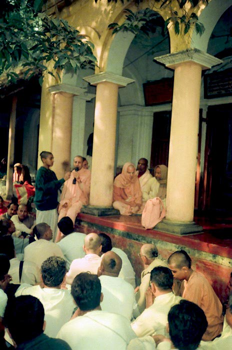 Radhanath Swami giving Lecture