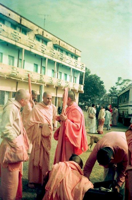Radhanath Swami Talking with his Godbrothers