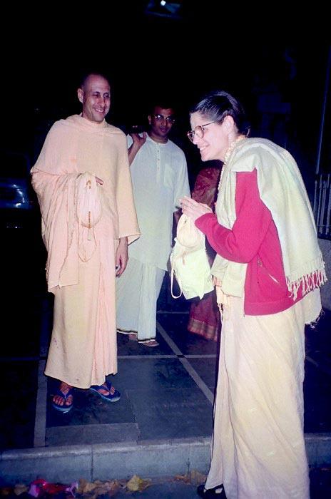 Radhanath Swami and Malati Mataji