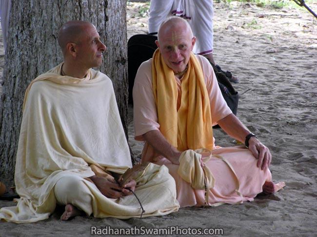 Radhanath Swami with Chandramauli Swami