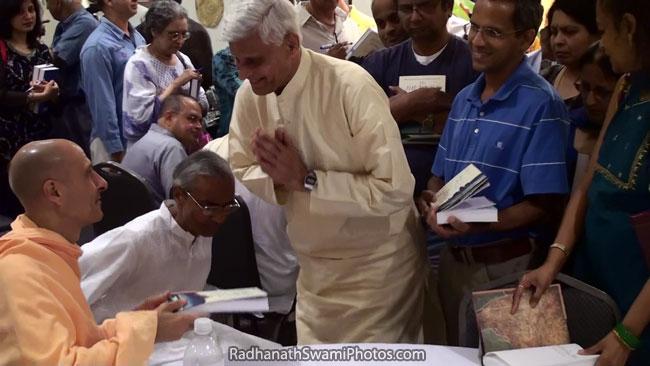 Radhanath Swami At India House Book Signing Program1