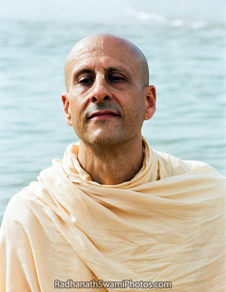 Radhanath Swami At Sea Shore In South India