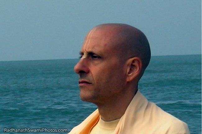 Radhanath Swami At Sea Shore