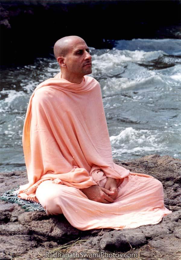 Radhanath Swami At The Lake