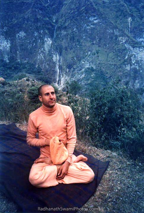 Radhanath Swami Chanting On Mounting Top