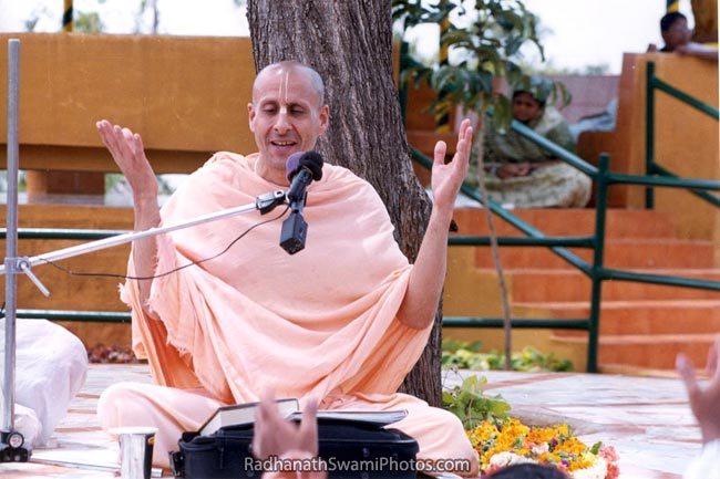 Radhanath Swami Giving A Spiritual Talk
