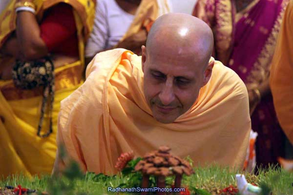 Radhanath Swami Observing Closely