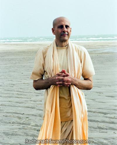 Radhanath Swami On Sea Shore