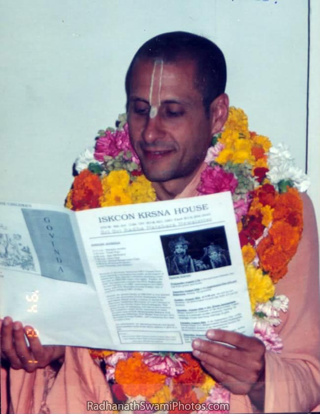 Radhanath Swami Reading Newsletter