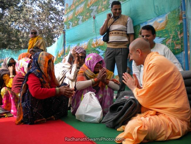 Radhanath Swami Serving At Barsana Eye Camp