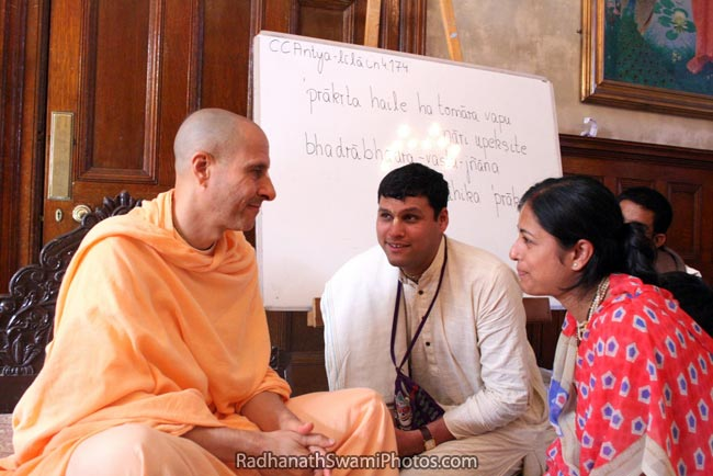 Radhanath Swami Talking To Devotees
