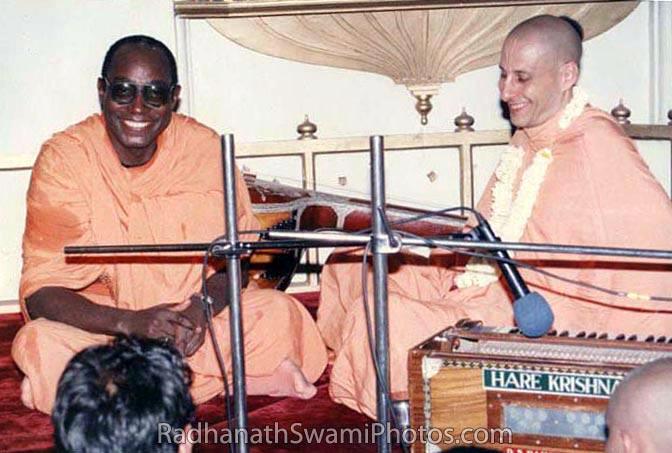Radhanath Swami With Bhakti Tirtha Swami