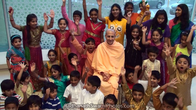 Radhanath Swami With Children At India House
