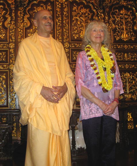 Radhanath Swami With Dorris
