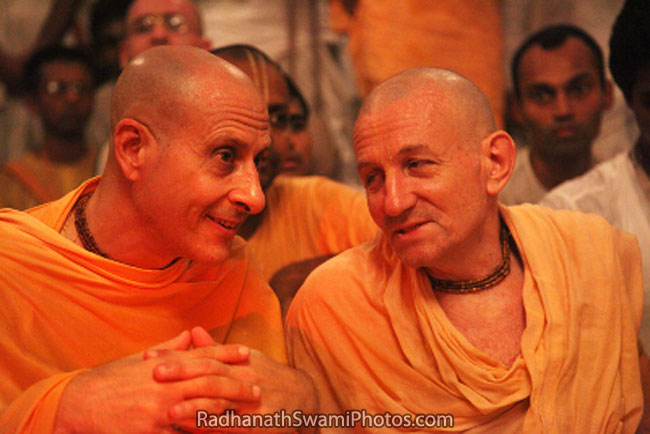 Radhanath Swami With Other Vaishanav