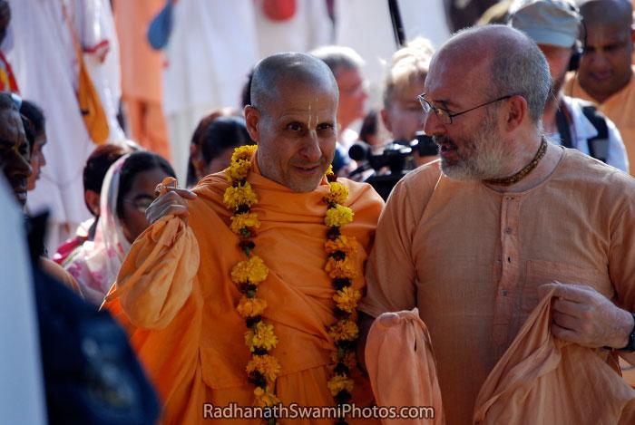 Radhanath Swami With Other Vaishnavas