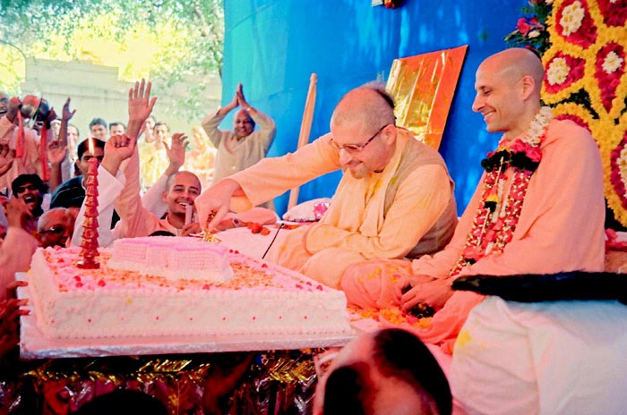 Radhanath Swami and Giriraj Swami