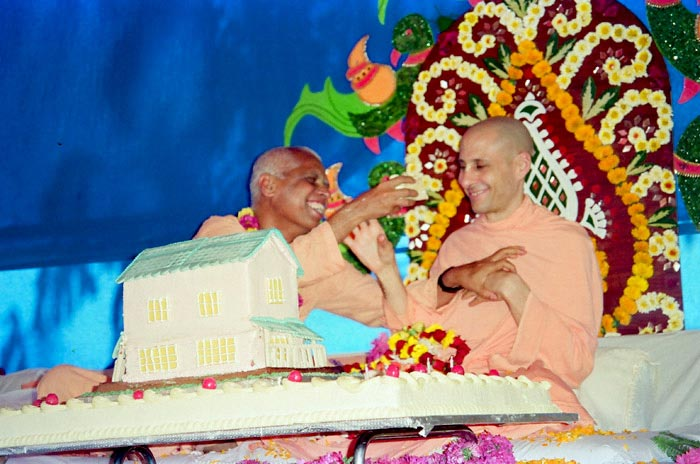 Radhanath Swami and Loknath Swami