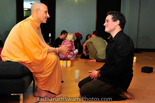 Radhanath Swami at a Yoga Institute
