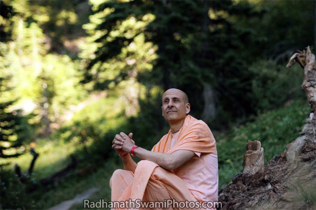 Radhanath Swami with Nature
