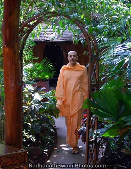 Radhanath Swami in his Monastrys Garden