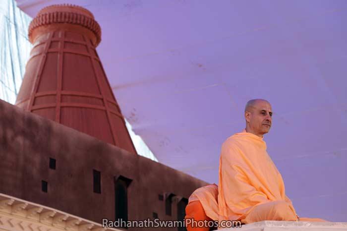 Radhanath Swami on Vyasasan