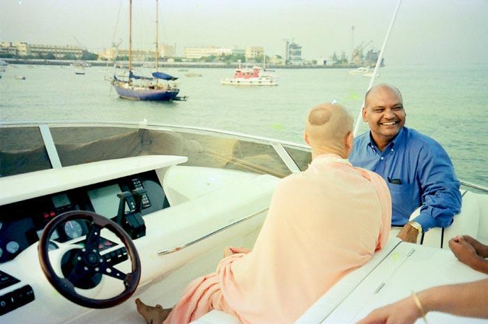 Radhanath Swami with Anil Agarwal