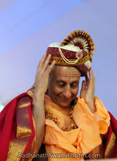 Radhanath Swami with Crown