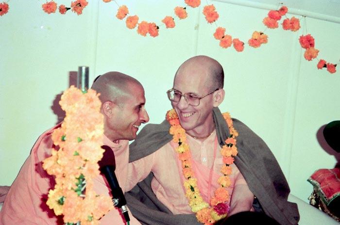 Radhanath Swami with Jayadvaita Swami