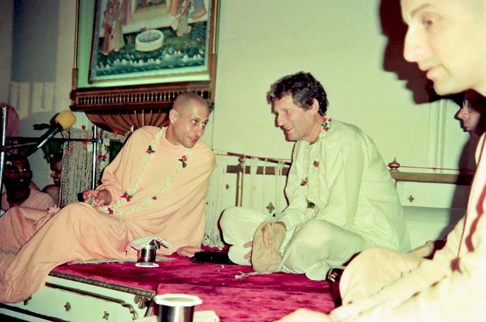 Radhanath Swami with Shyamsundar Prabhu