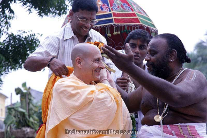Radhanath Swami during South India Yatra