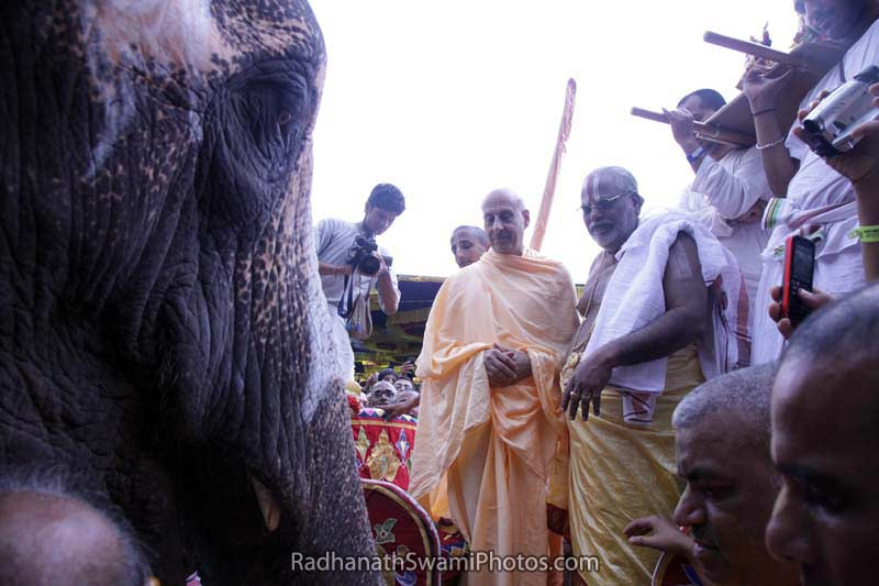 Radhanath Swami during South India Yatra