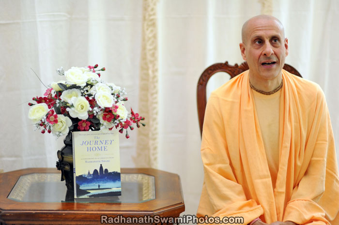 Radhanath Swami with Journey Home Book