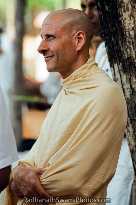 Radhanath Swami Beneath a tree