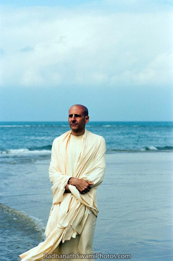 Radhanath Swami Contemplating at the Sea