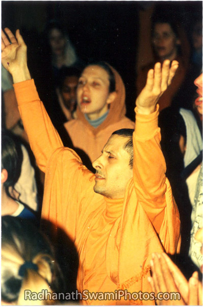 Radhanath Swami Dancing in a Kirtan
