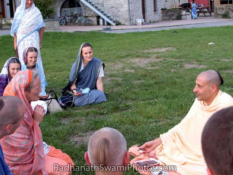 Radhanath Swami Offering Spiritual Counselling