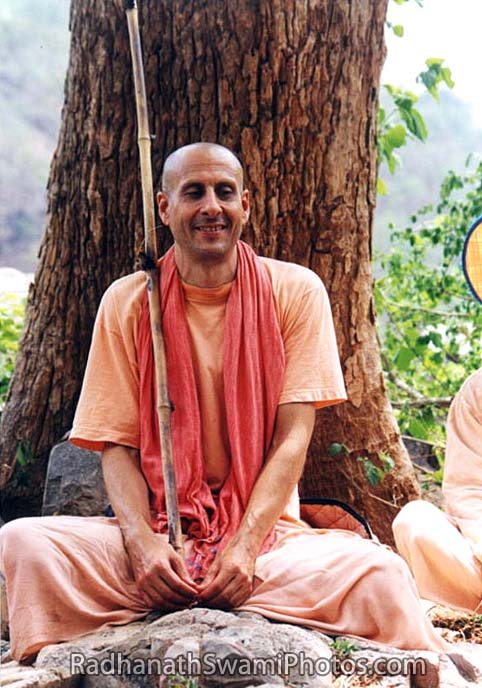 Radhanath Swami Sitting underneath a Tree