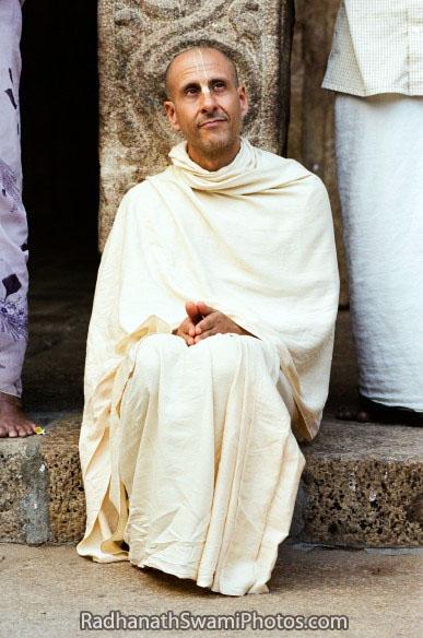 Radhanath Swami Sitting on Sacred Ground