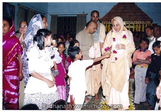 Radhanath Swami with Children
