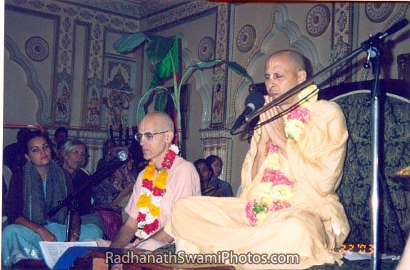 Radhanath Swami with Dravida Prabhu
